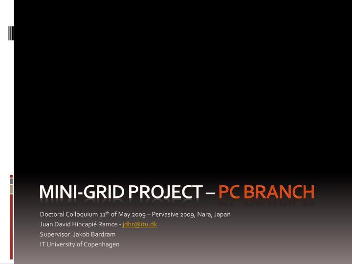Mini-grid Project
