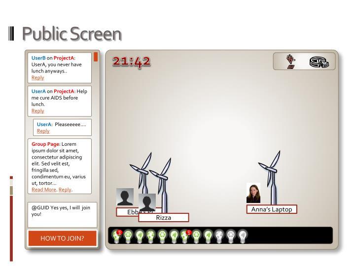 Public Screen