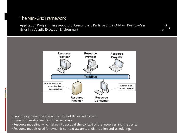The Mini-Grid Framework
