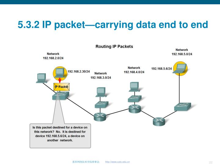 5.3.2 IP packet—carrying data end to end