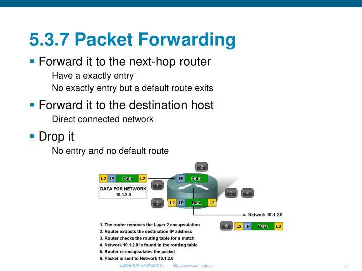 5.3.7 Packet Forwarding