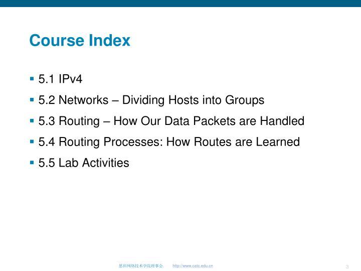 Course Index