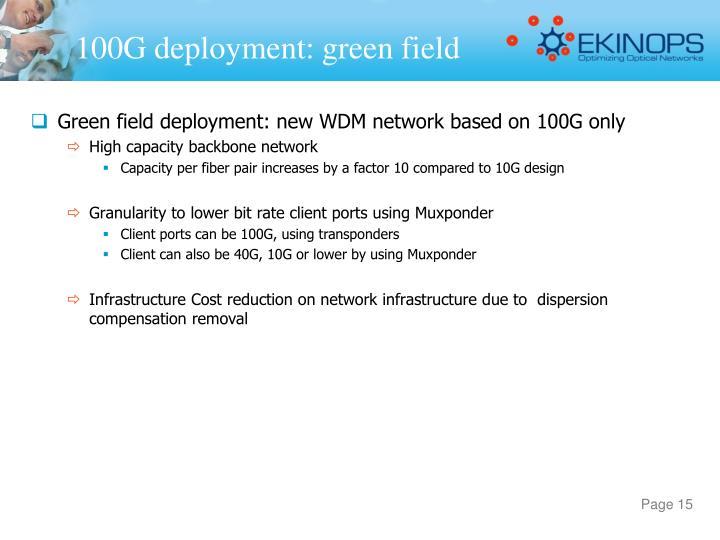 100G deployment: green field