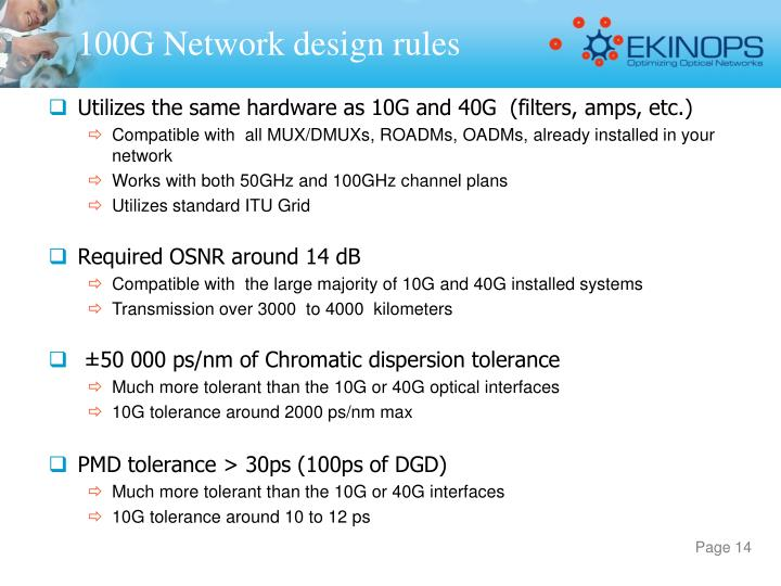 100G Network design rules