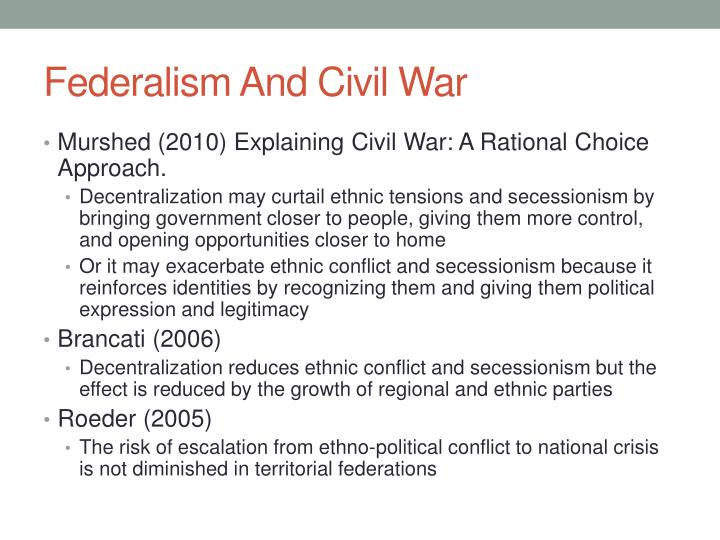 Federalism And Civil War