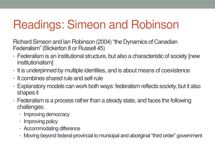 Readings: Simeon and Robinson