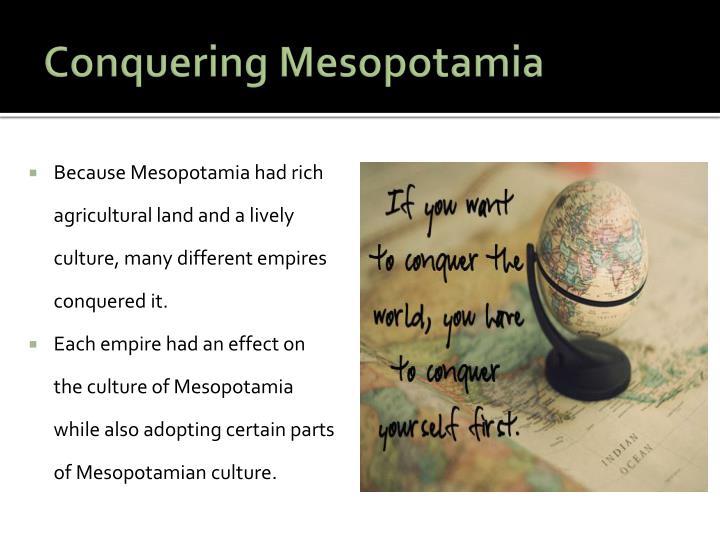 Conquering Mesopotamia
