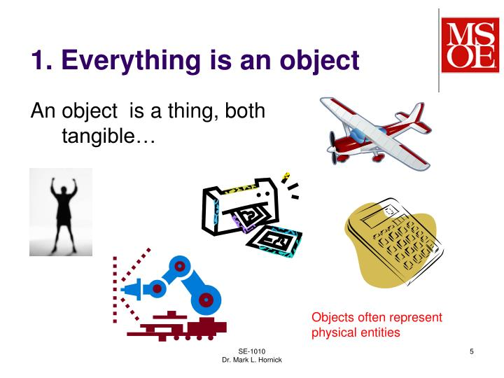 1. Everything is an object