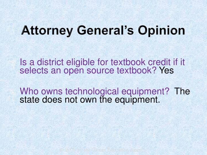 Attorney General's Opinion
