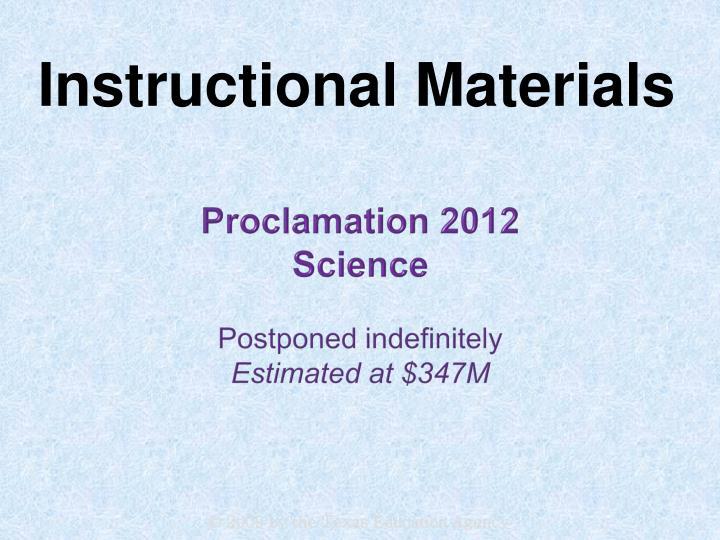 Proclamation 2012
