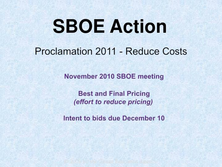 Proclamation 2011 - Reduce Costs