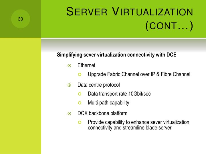 Server Virtualization (cont…)