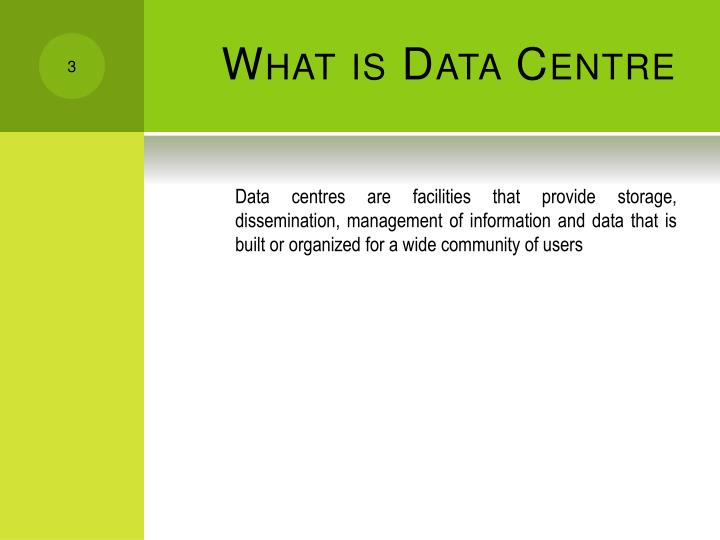 What is data centre