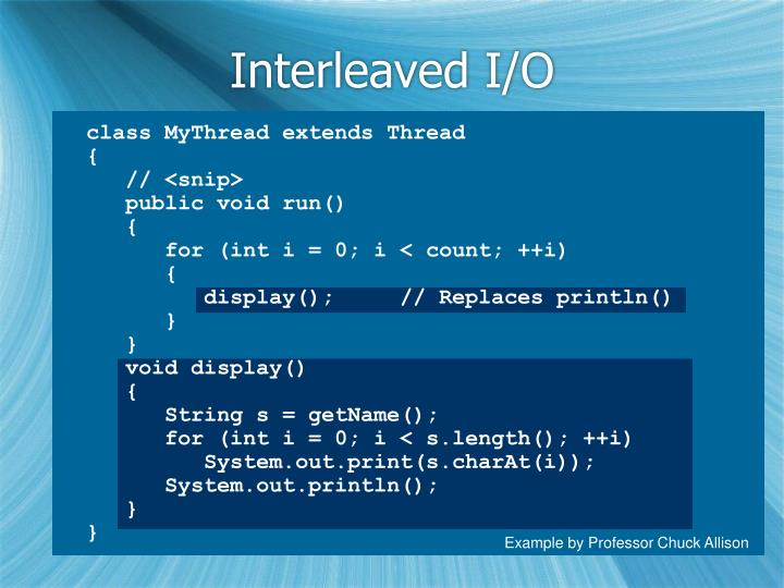 Interleaved