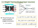 3 1 weight training output layer neurons