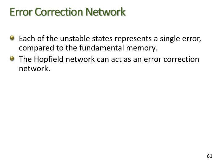 Error Correction Network