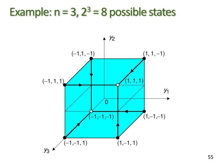 Example: n = 3, 2
