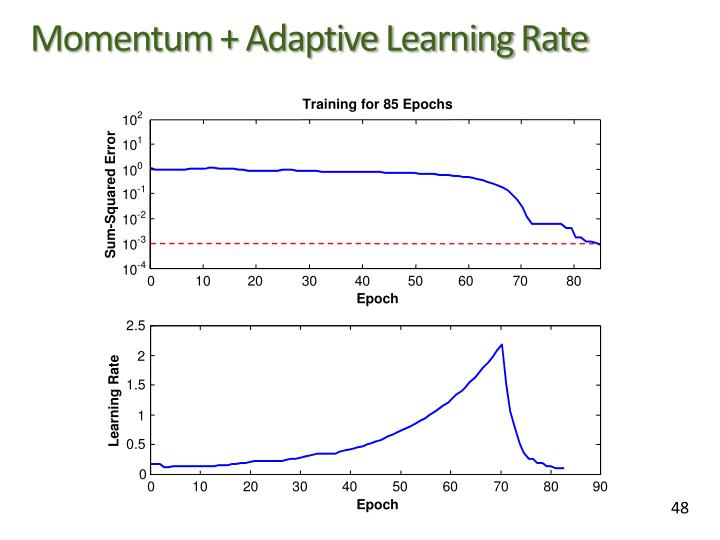 Momentum + Adaptive Learning Rate