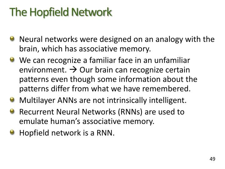 The Hopfield Network