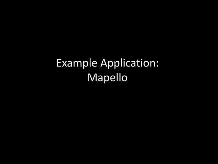 Example Application: