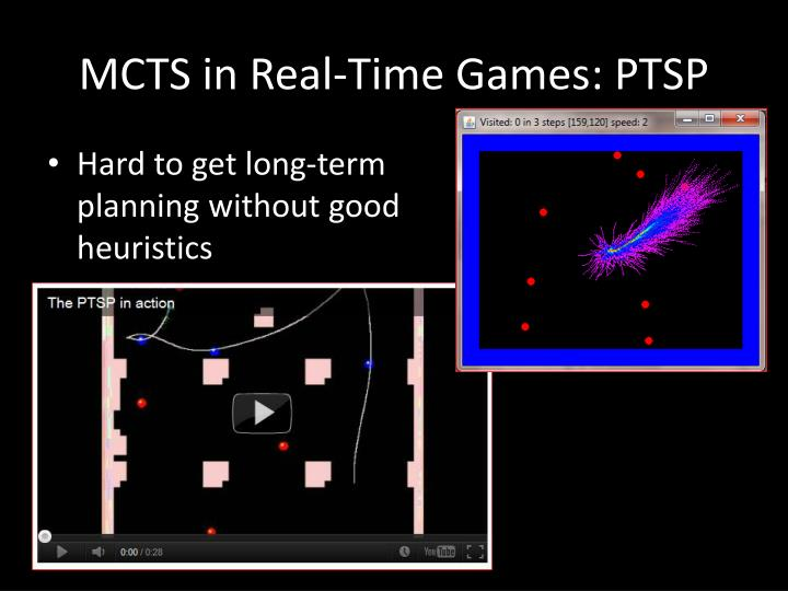 MCTS in Real-Time Games: PTSP