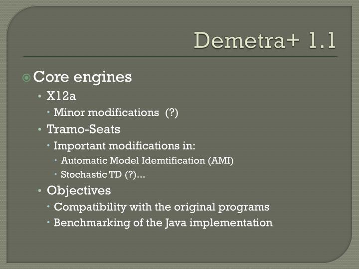 Demetra+ 1.1