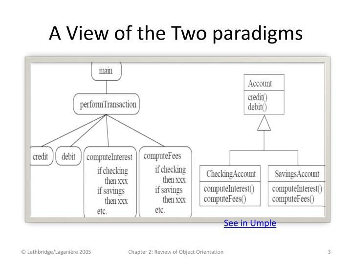 A View of the Two paradigms