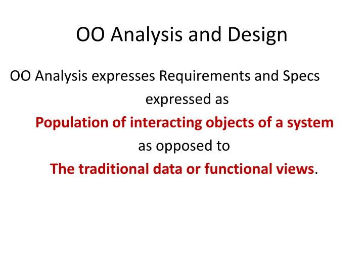 Oo analysis and design