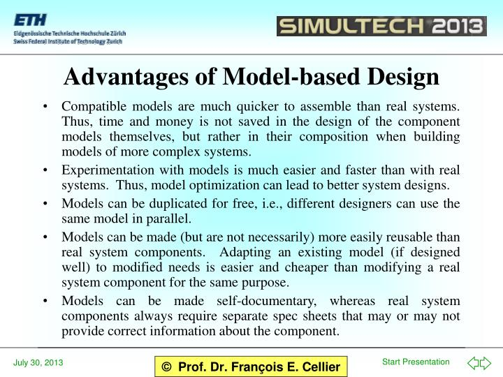 Advantages of Model-based Design