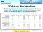 efficiency of simulation runs