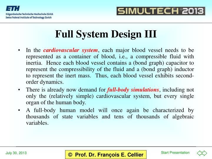 Full System Design