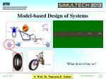 model based design of systems