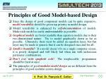 principles of good model based design