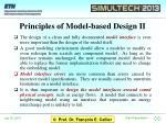 principles of model based design ii