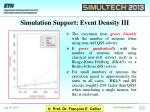 simulation support event density iii
