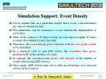 simulation support event density
