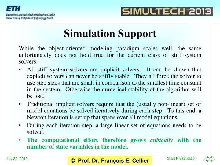 Simulation Support