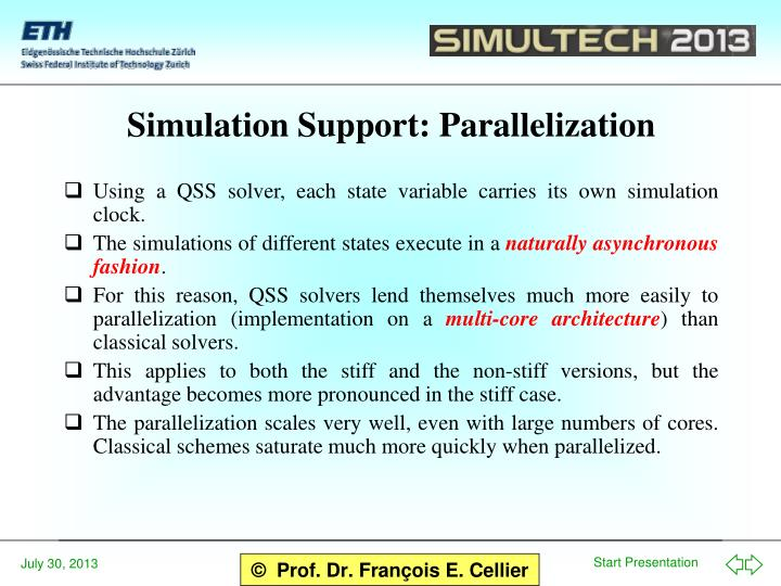 Simulation Support: Parallelization
