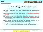 simulation support parallelization