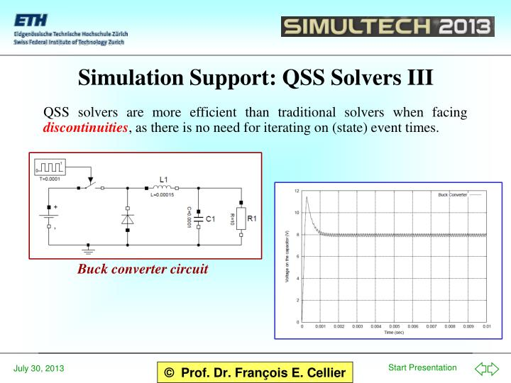 Simulation Support: QSS Solvers III