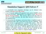 simulation support qss solvers v