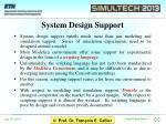 system design support