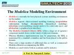 the modelica modeling environment
