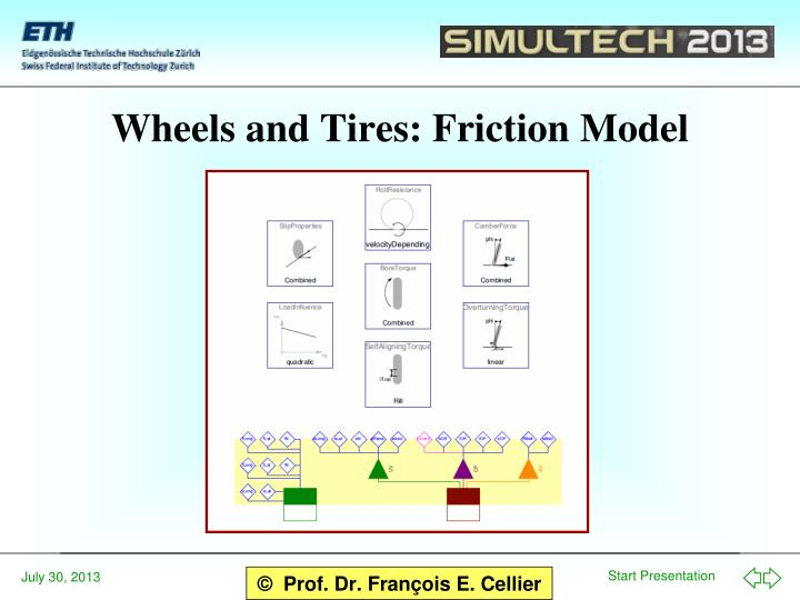 Wheels and Tires: Friction Model