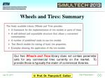 wheels and tires summary