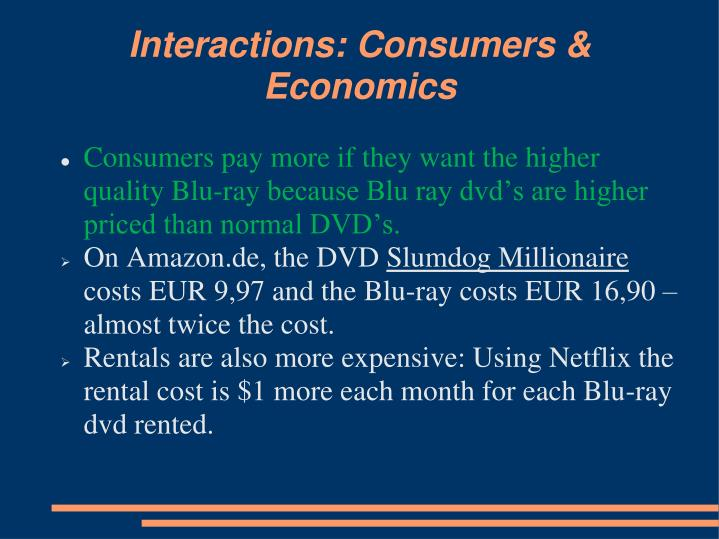 Interactions: Consumers & Economics