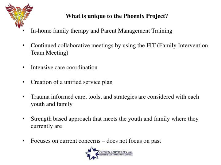 What is unique to the Phoenix Project?