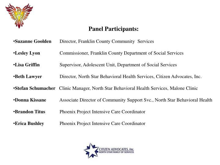 Panel Participants: