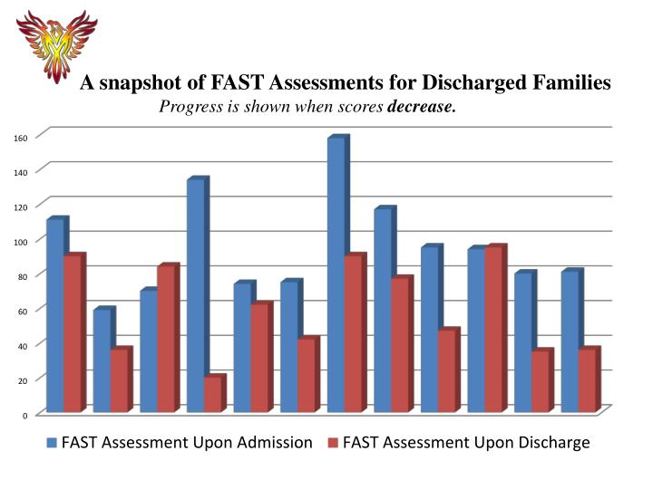 A snapshot of FAST Assessments for Discharged Families