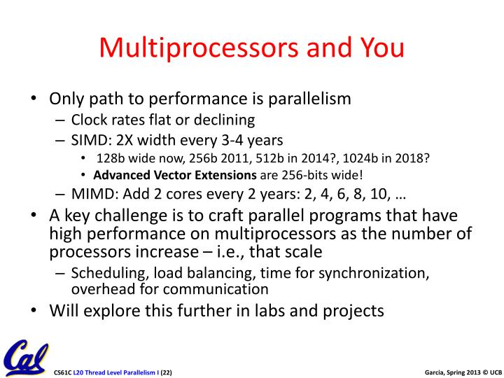 Multiprocessors and You